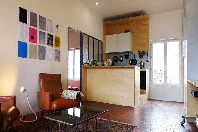 t3 architecture architecte marseille r novation d un appartement avec terrasse. Black Bedroom Furniture Sets. Home Design Ideas