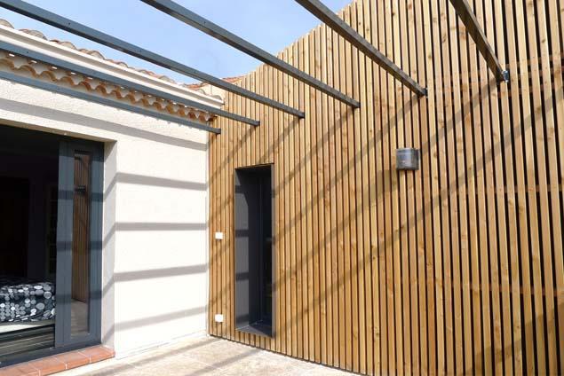 Architecte marseille, T3 architecture, architecture contemporaine et ecologique, neuf  # Bardage Bois Ajouré