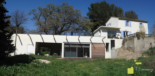 Architecte marseille t3 architecture architecture for Extension contemporaine maison traditionnelle